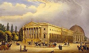 Lindenoper um 1840, Lithographie